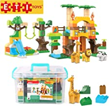 ETI Toys, 110 Piece Bublu Wildlife Safari Building Blocks. Build Forest, Wild Animals Habitat. 100 Percent Non-Toxic, Fun, Creative Skills Development. Gift, Toy for 3, 4, 5 Year Old Boys and Girls