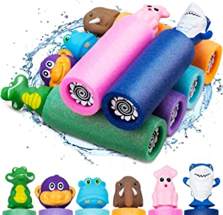 6 Pack Animal Water Blaster Soaker Guns, Water Gun Pool Toys Foam Noodles Pump Water Squirt Guns for Kids Adults, Summer Outdoor Beach Backyard Game Water Toys for Kids Boys Girls Age 3 4 5 6 7 and Up