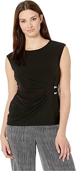 Sleeveless Top with Circle Hardware