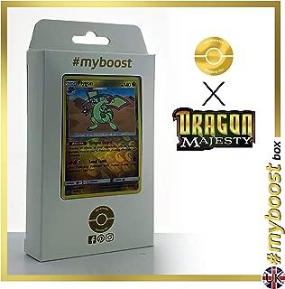 Flygon 39/70 Holo Reverse - #myboost X Sun & Moon 7.5 Dragon Majesty - Box of 10 Pokemon English Cards