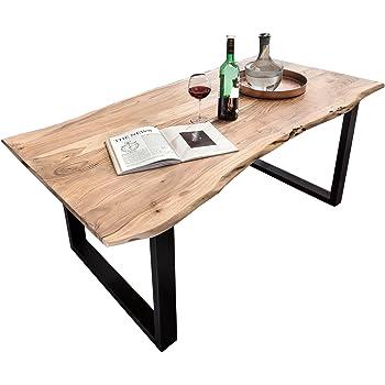 SAM Esstisch aus Akazie Massivholz mit Baumkante
