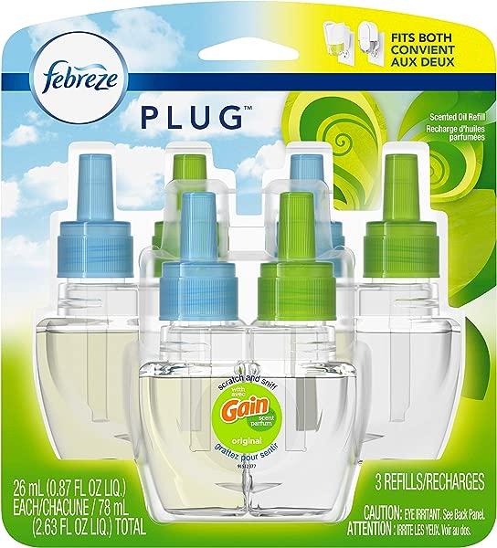 Febreze Plug In Air Freshener Scented Oil Refill Gain Original Scent Set 3 Count
