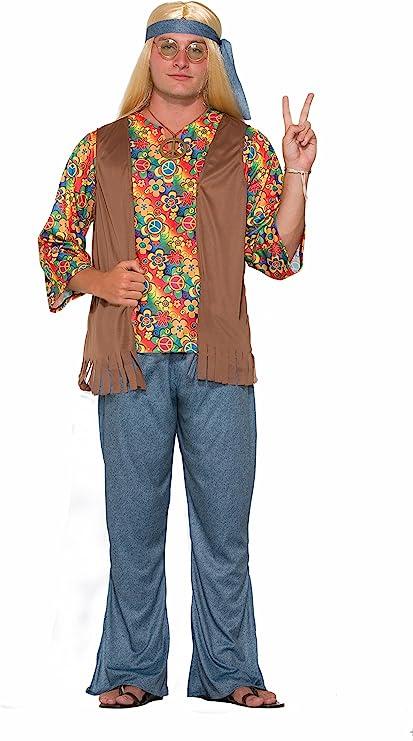 60s , 70s Hippie Clothes for Men Forum Mens Hippie Dude Value Costume  AT vintagedancer.com