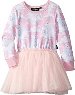 Diamonds In The Sky Long Sleeve Circus Dress (Toddler/Little Kids/Big Kids)
