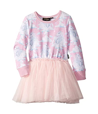 Rock Your Baby Diamonds In The Sky Long Sleeve Circus Dress (Toddler/Little Kids/Big Kids) (Pink) Girl