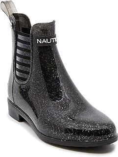 Nautica Youth Girls Bootie Chelsea Waterproof Rain Boot Ankle/Mid Calf Shoe (Little Kid/Big Kid)