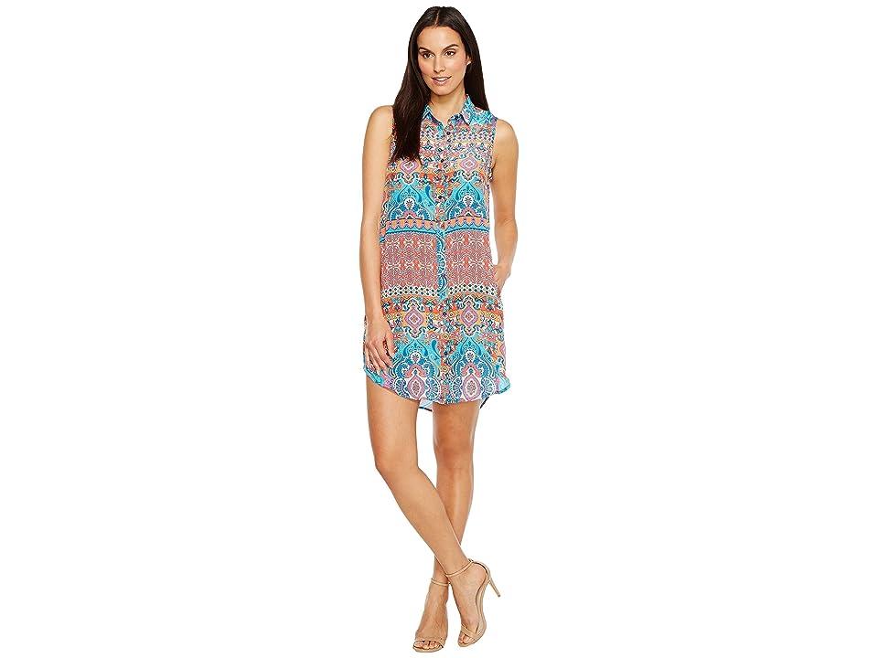 Tolani Holly Sleeveless Tunic Dress (Festive) Women