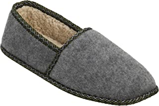 Men's Moccasin - Indoor/Outdoor, Machine Washable, Cushioned Slippers with Closed-Toed Design and Rubber Sole