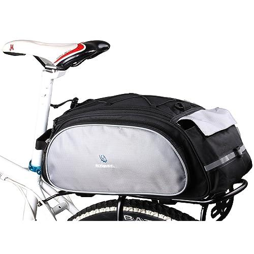 DCCN 13L Sacoche pour Arrière de Vélo Porte-bagages, Sac de Rangement arrière de Transport Vélo du Siège Sac Résistant à l'eau pour VTT Cyclisme TRES TRES BONNE Qualité , 13l Noir