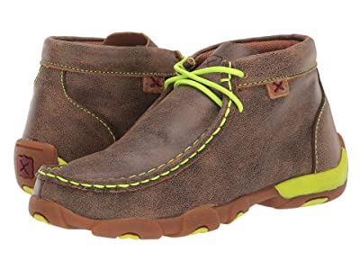 Twisted X Driving Moc (Little Kid/Big Kid) (Bomber/Neon Yellow) Shoes