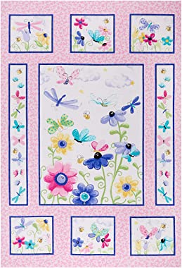 6301 West Marginal Way SW Susybee Flutter The Butterfly Quilt 36'' Panel Fabric, Pink