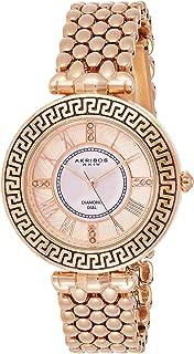 Akribos Xxiv Women's Quartz Watch, Analog Display and Stainless Steel Strap Ak808Rg
