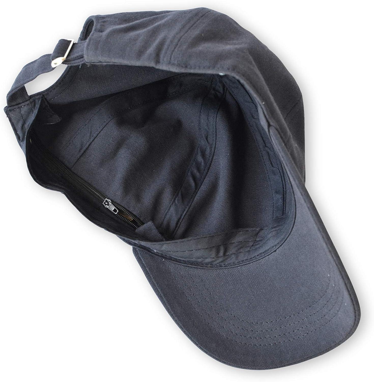 Hide & Go Adjustable Hidden Pocket Hat with Interior Zippers