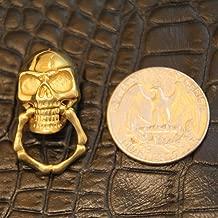 WellieSTR Lof of 5PCS Solid Brass Slide-Skull-O-Ring Wallet Chain Connector Jointpart Leathercraft , Leathercraft Skull rivet stud Punk screw back Conchos Wallet 2.21.5CM