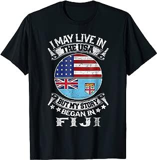 Home USA Fiji Patriot American Fijian Flag Tshirt