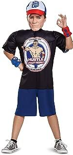 John Cena Classic Muscle WWE Costume, Black, Medium (7-8)