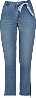 GINA LAURA Damen Jeans Knöchellang Julia Zipper Saum Mujer