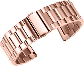 Luxury Fully 316L Stainless Steel Watch Band Bracelet Replacement Folded Clasp