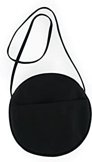 BAGGU Canvas Circle Purse, Durable and Stylish Simple Canvas Satchel for Daily Essentials