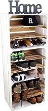 3 x Zapatero Botellero de madera flameada / blanca cajonera para 18 pares de zapatos como zapatero de madera Dimensiones 50 x 30 x 40 cm (cada caja) Estante estable con aspecto de caja de fruta