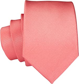 Slim Silk Necktie for Men Woven Narrow Business Wedding Ties
