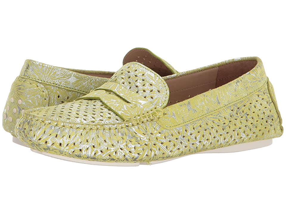 Johnston & Murphy Maggie Perfed Penny (Lime Metallic Print Suede) Women