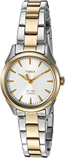 Women's 'Chesapeake' Quartz Brass and Stainless Steel Dress Watch, Color:Silver-Toned (Model: TW2P819009J)
