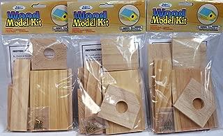 Creative Hobbies Wood Model Kit Birdhouse - Wholesale Lot of 3 Ready to Finish Kits