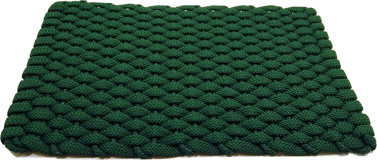 Rockport Rope Doormats 2038242 Kitchen Comfort Mats, 20 by 38-Inch, Forest Green