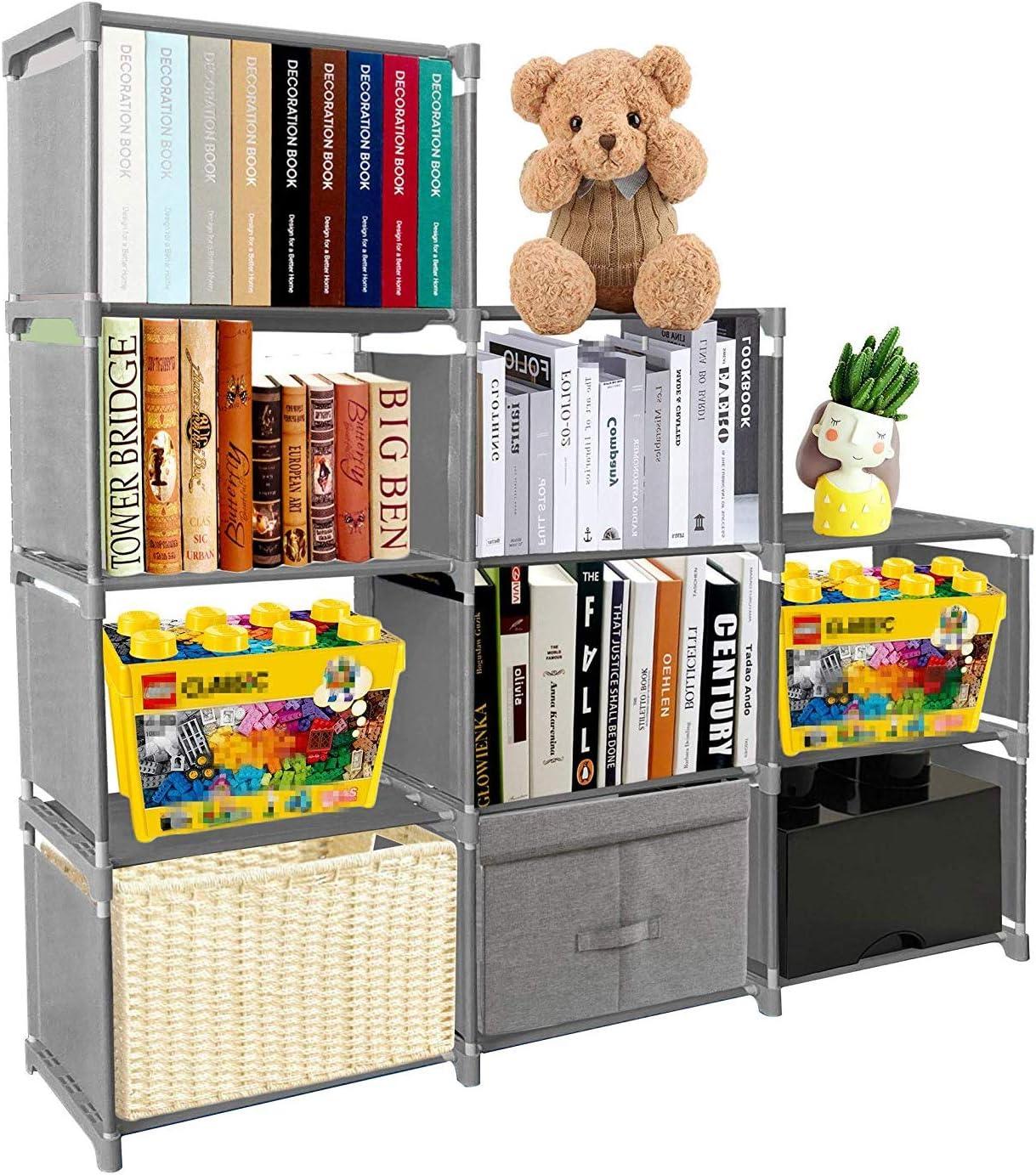 PENGKE Kids Bookshelf 9 Cubes Max 79% Shipping included OFF Storage Pl Book Shelf Office