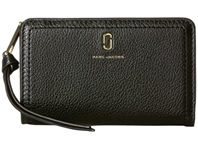 Marc Jacobs Compact Wallet (Black) Wallet Handbags
