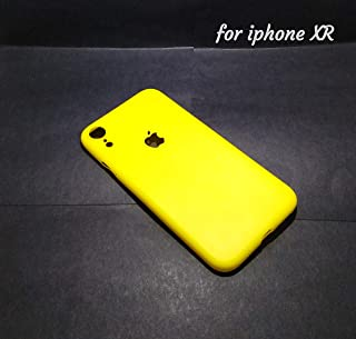 INDEZIRE® Anti Slip Ultra Thin Plastic Phone Case Mobile Back Cover for i-Phone XR (Yellow)