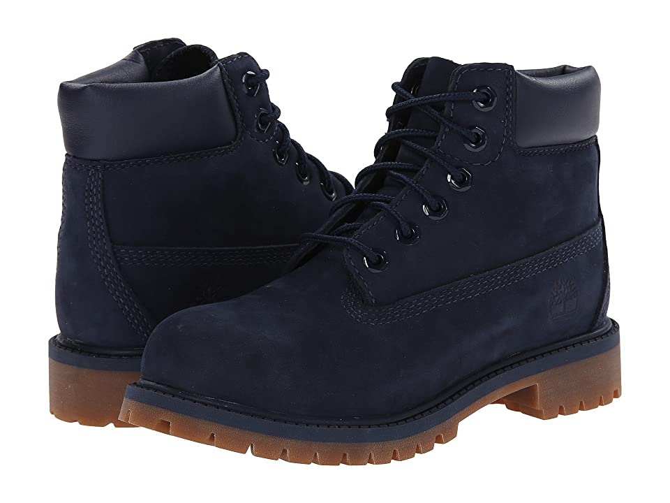 Timberland Kids 6 Premium Waterproof Boot Core (Little Kid) (Navy Nubuck) Boys Shoes