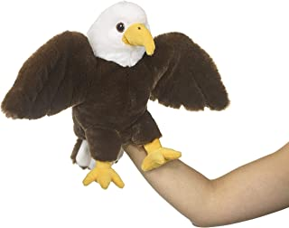 "Eco Pals Bald Eagle Puppet by Wildlife Artists, Stuffed Animal Plush Toy Puppet 10"", Eco-Friendly, Embroidered Eyes and No..."