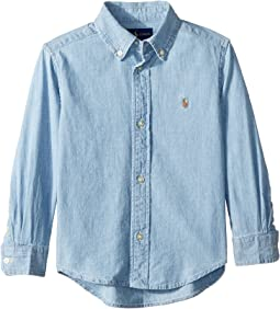 Indigo Cotton Chambray Shirt (Toddler)