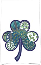 E By Design KTHF757BL8 Sham-Tangle, Holiday Floral Print Kitchen Towel