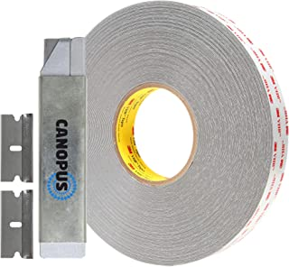 CANOPUS 3M VHB Tape Double Sided, Outdoor Indoor Mounting Tape, Waterproof Heavy Duty Acrylic Adhesive Tape, Converted from RP45 Gray roll, (3/4 in x 5 yd)