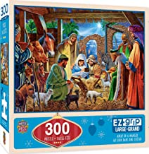 MasterPieces Holiday EZ Grip Extra Large Jigsaw Puzzle, Away in a Manger, Featuring Art by Steve Crisp, 300 Pieces