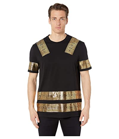 Versace Collection Gold Printed T-Shirt (Nero/Stampa) Men