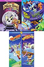 Cat & Mouse Animated Movies Wizard of Oz Tom & Jerry DVD Collection / Magic Ring + Shiver Me Whiskers & Whiskers Away! Feature Bundle 4 Movie Cartoon Set