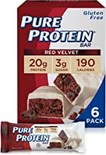 Pure Protein Bars, High Protein, Nutritious Snacks to Support Energy, Low Sugar, Gluten Free, Red Velvet Cake, 1.76 oz, Pa...