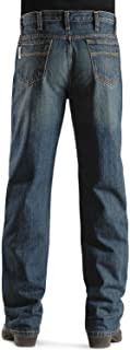 Men's Jeans White Label Relaxed Fit Denim Dark Stonewash Dark Stone 40W x 36L