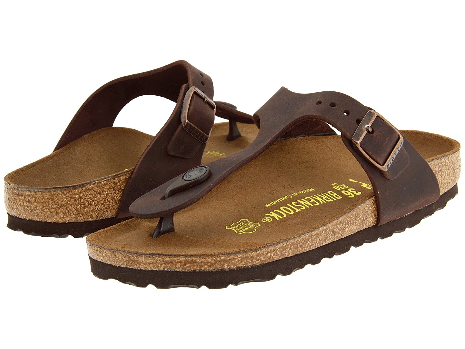 Birkenstock Gizeh Oiled LeatherComfortable and distinctive shoes