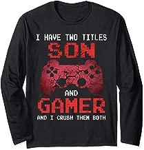 Cool Funny Gamer Vintage Video Games Gift Son Boys Teens Long Sleeve T-Shirt