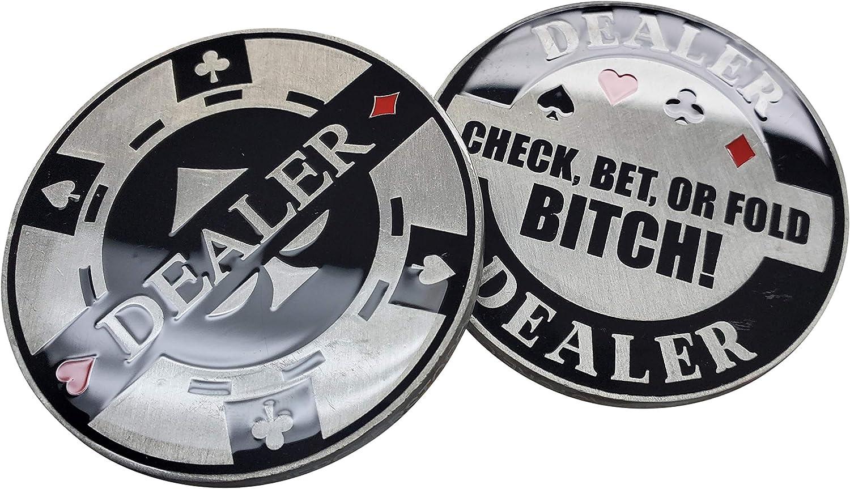 25% OFF Poker Aggressive Metal Sale price Dealer Button