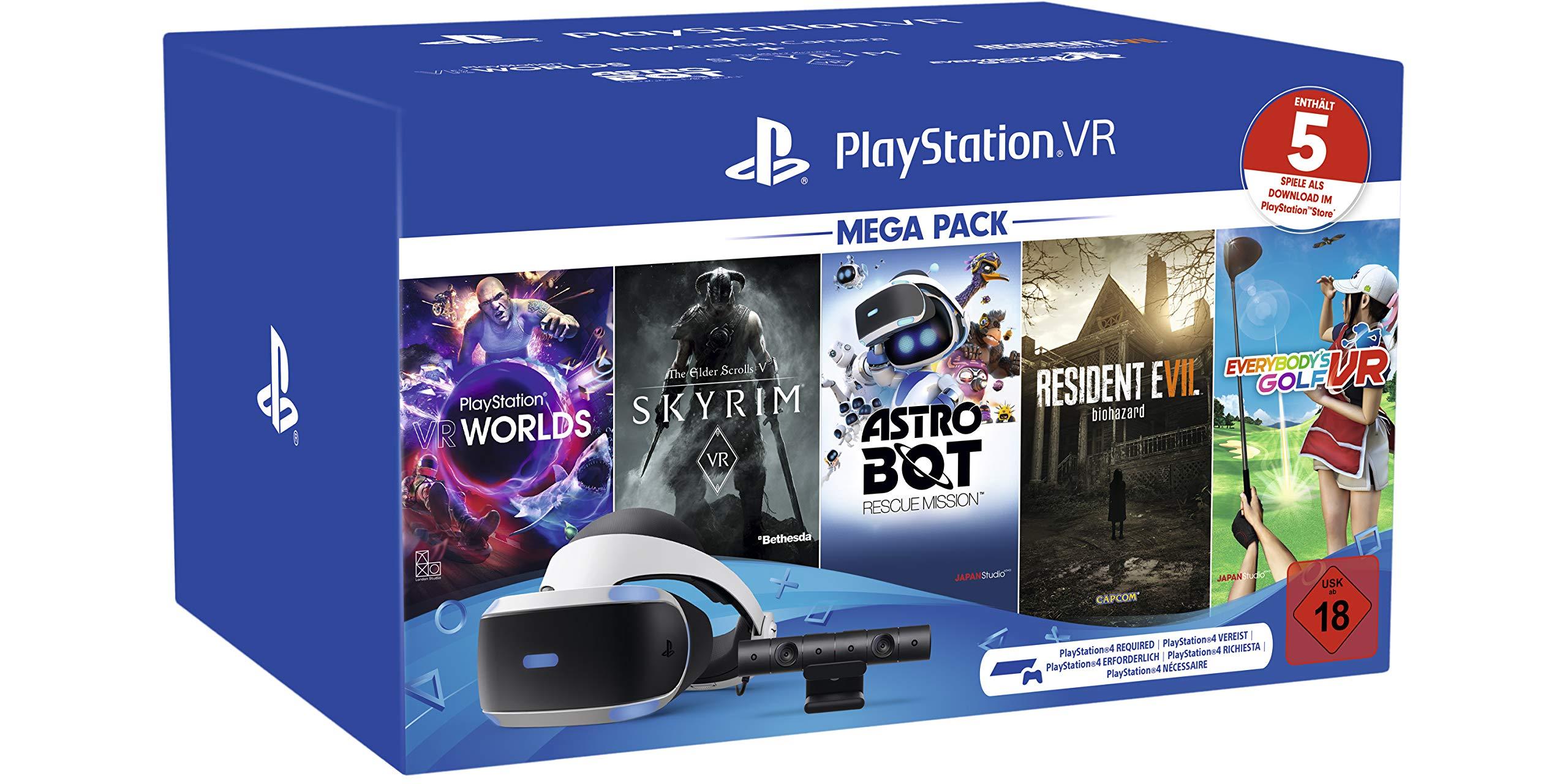 Playstation VR Mega Pack 2, VR-Brille INKL. Camera + VR Worlds + ...