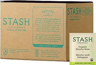 Stash Tea Organic Matcha Mate Tea Blend of Matcha Green Tea & Yerba Mate 100 Count Box of Tea Bags in Foil