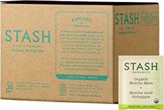 Stash Tea Organic Matcha Mate Tea Blend of Matcha Green Tea & Yerba Mate 100 Count Box of Tea Bags in Foil