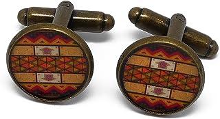2 gemelli retrò costume Africa resina arancione arancione marrone ottone 16mm regali personalizzati regalo di Natale compl...