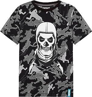 Fortnite Camiseta Niño De Manga Corta, Camiseta De Algodón con Estampado De Camuflaje, Ropa Gamer con Skull Trooper, Regal...